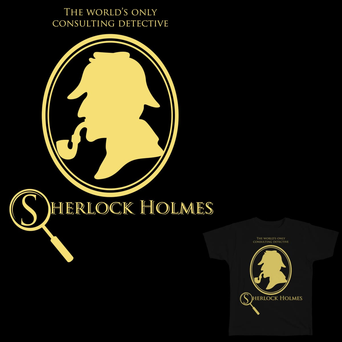 The World's Only Consulting Detective by andoyman on Threadless