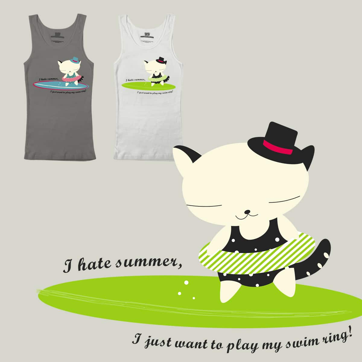 I hate summer! by alicemintgreen on Threadless