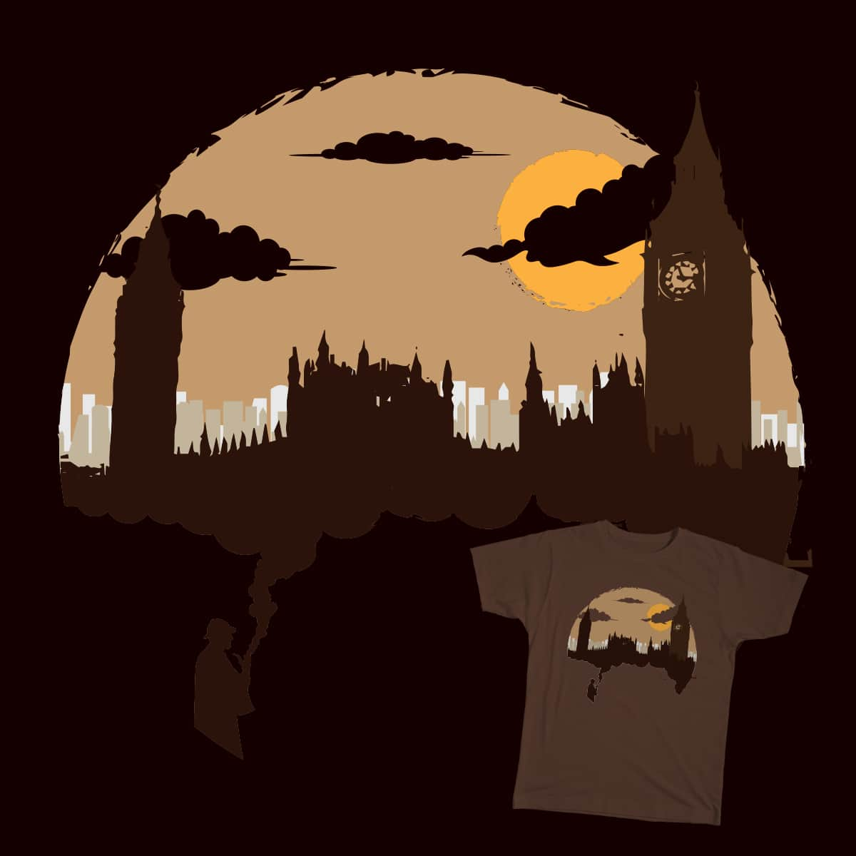 Smoking London by fattybloor on Threadless
