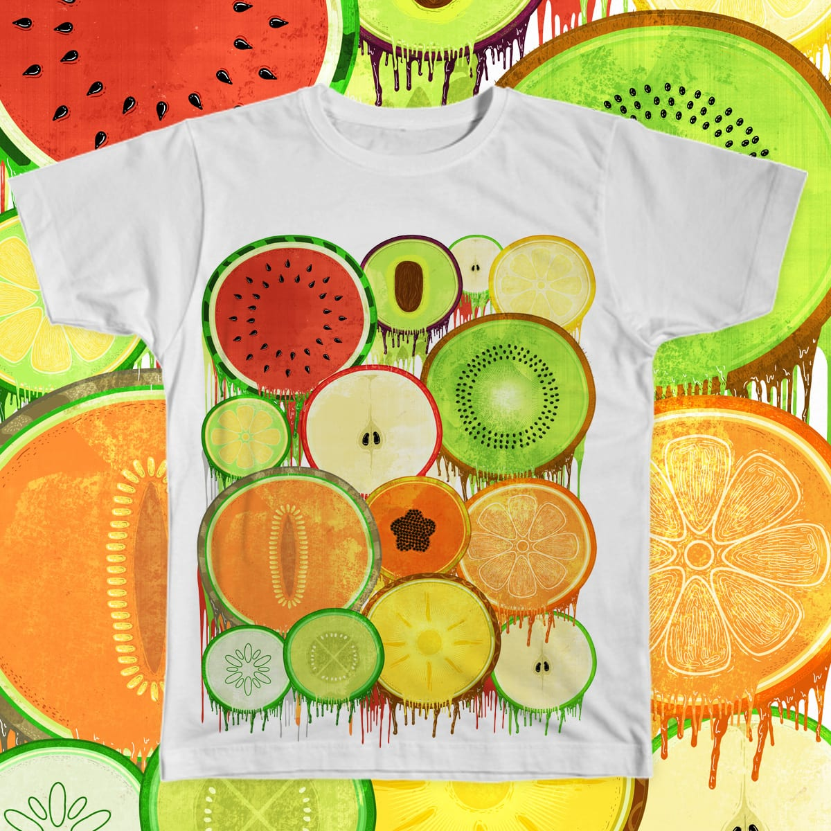 fresh fruity drips by gaci on Threadless