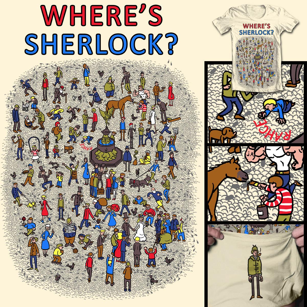 Where's Sherlock? by Mantichore on Threadless