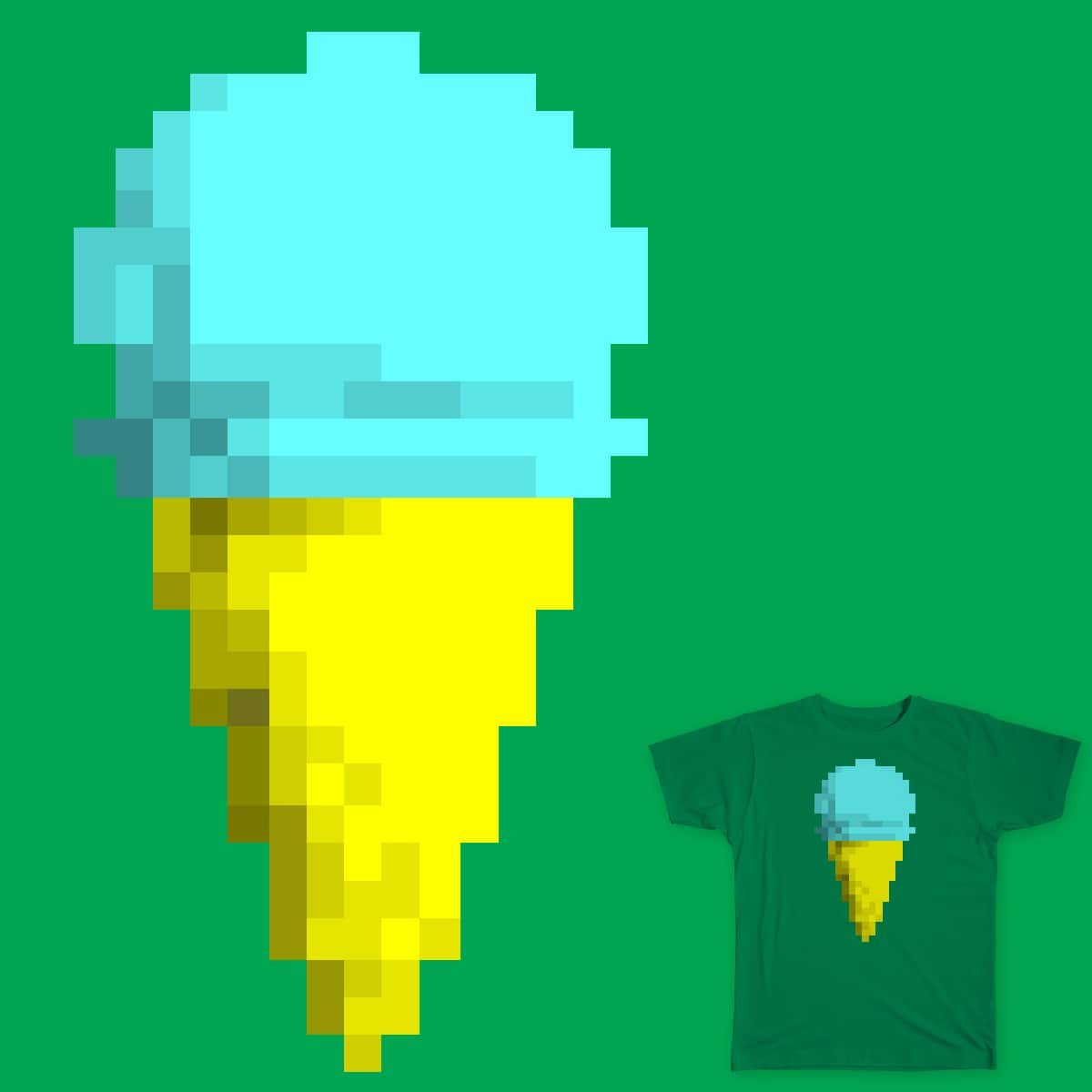 Pixel Ice Cream by noraeurydice on Threadless