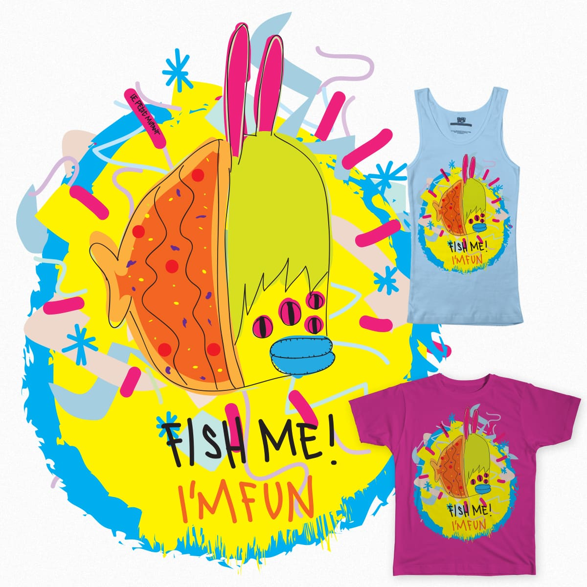 FISH ME! I'm Fun! by lepetitmutant on Threadless