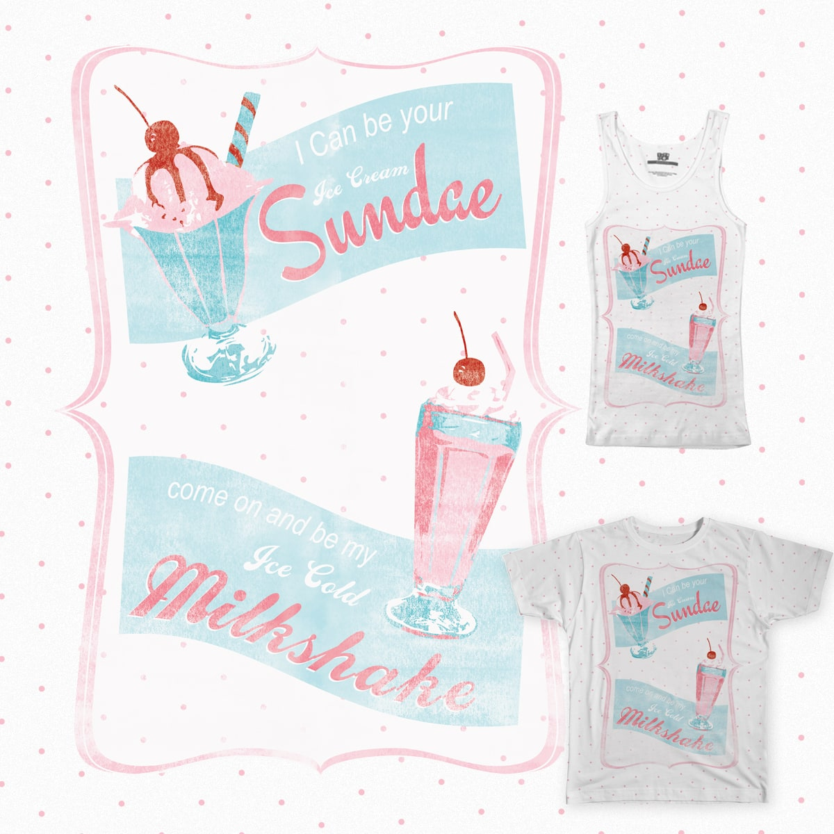 Milkshakes & Sundaes by gmockett on Threadless