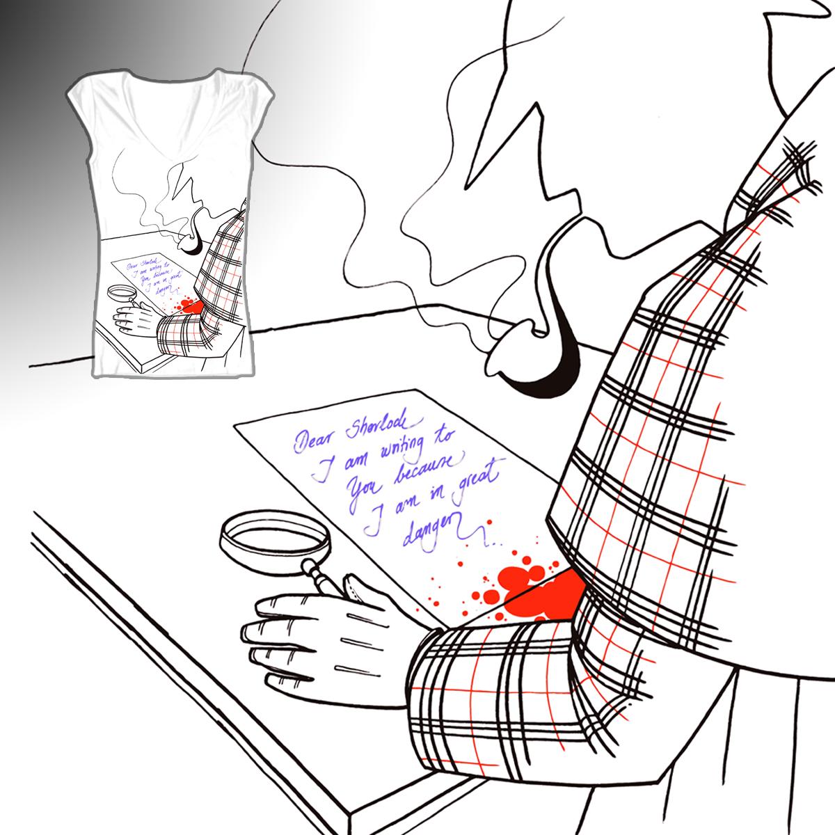 Can Mr. Sherlock unlock the mystery? by stjepan on Threadless