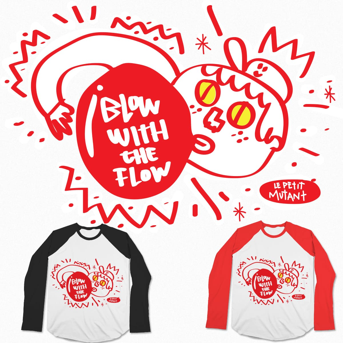 Blow with the Flow!  by lepetitmutant on Threadless