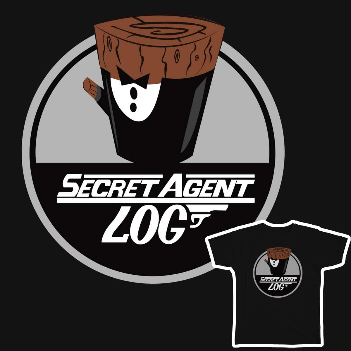 Secret Agent Log! by khodabae on Threadless