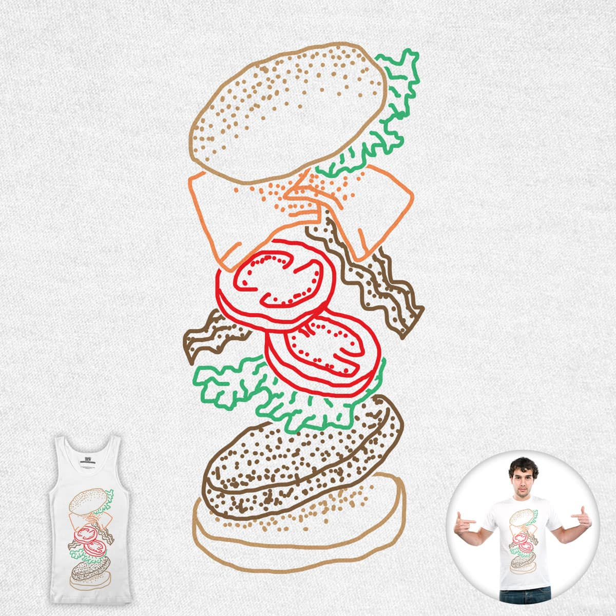 Just Add Sauce (Burger Edition) by SteveOramA on Threadless