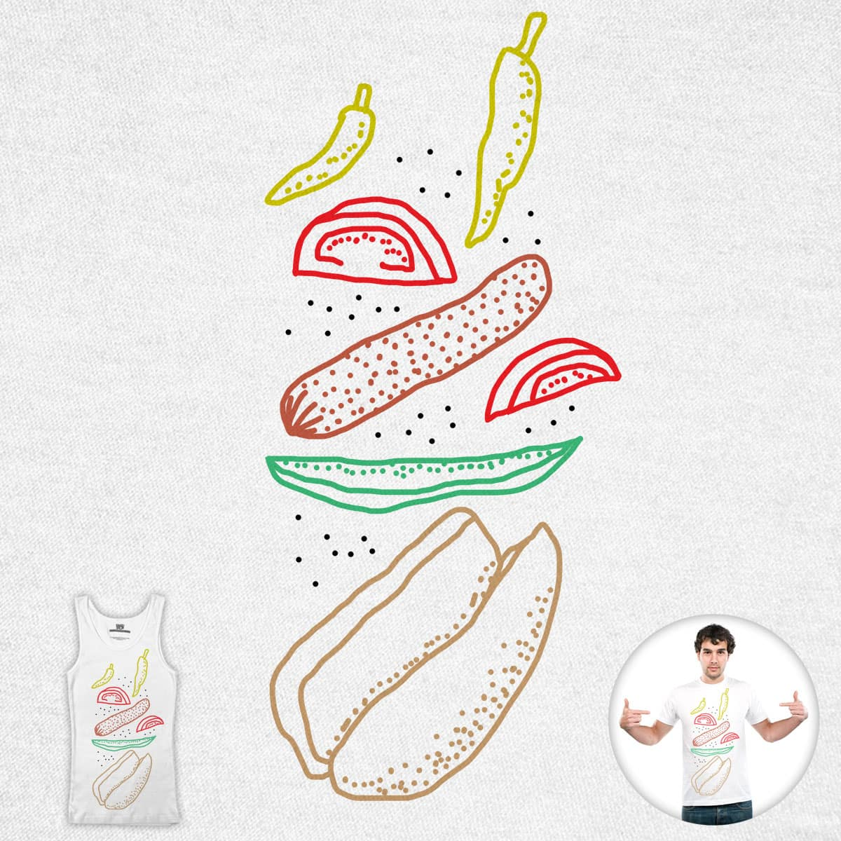 Just Add Sauce (Hot Dog Edition) by SteveOramA on Threadless