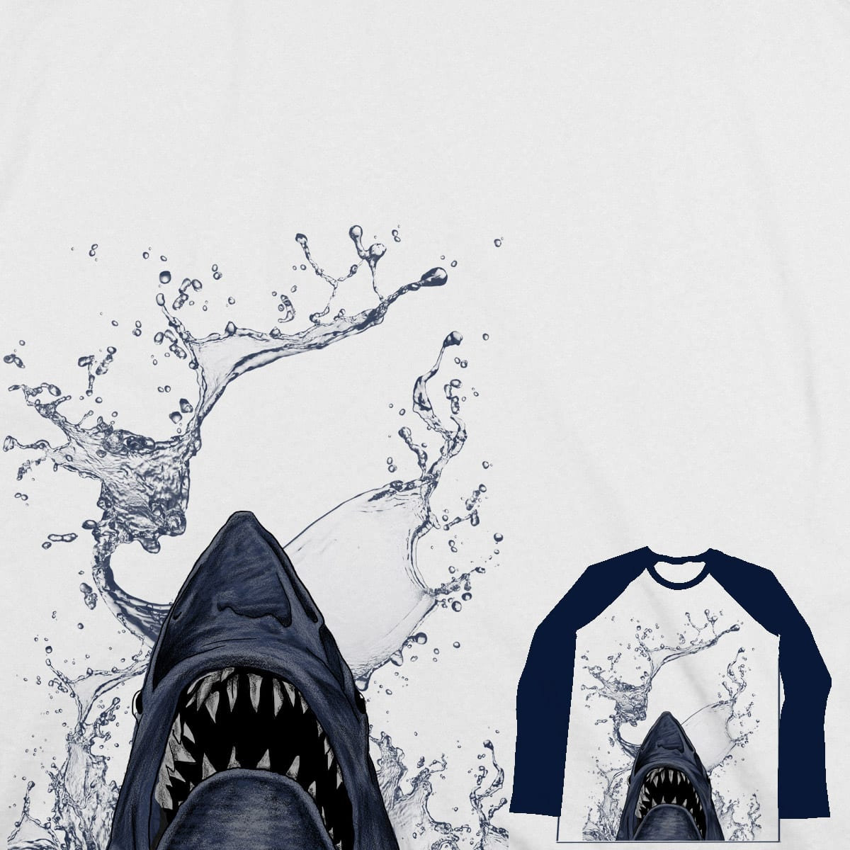 shark and water by gupikus on Threadless