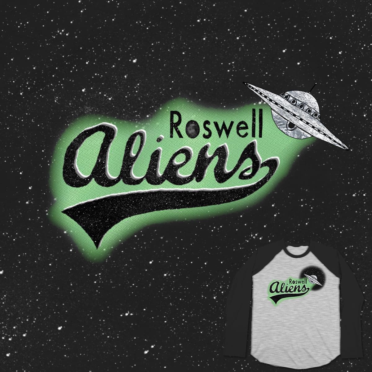 Go Aliens! by Postmaniac on Threadless