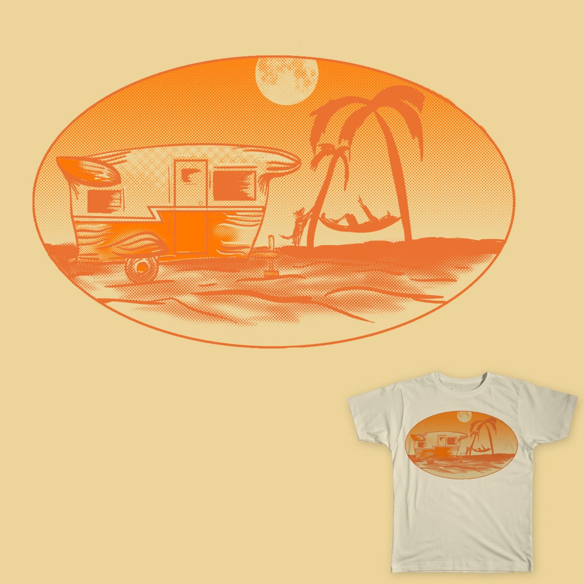 Hammock, dog, and retirement vehicle. by CycoblastArt on Threadless
