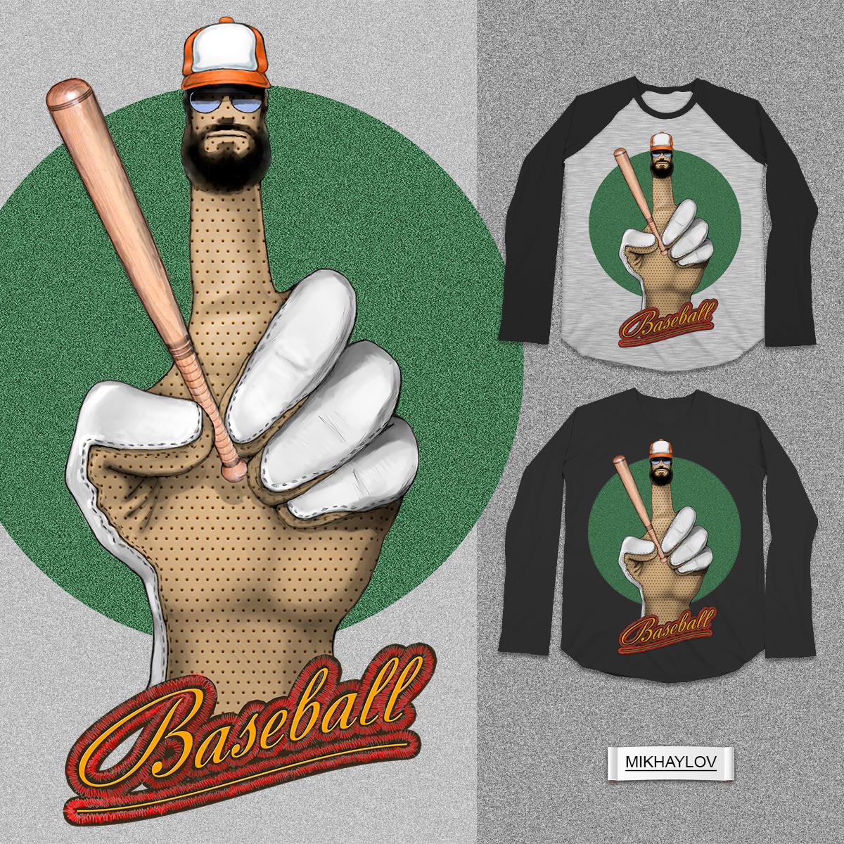 my baseball ! by MIKHAYLOV on Threadless