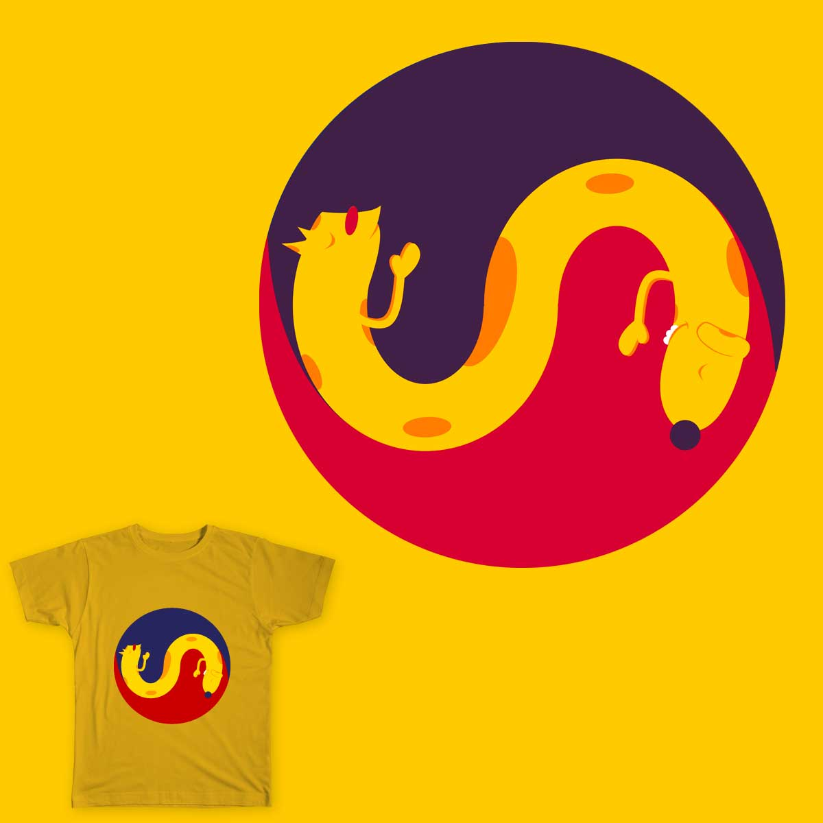 Nature's Yin and Yang by kalmansor on Threadless