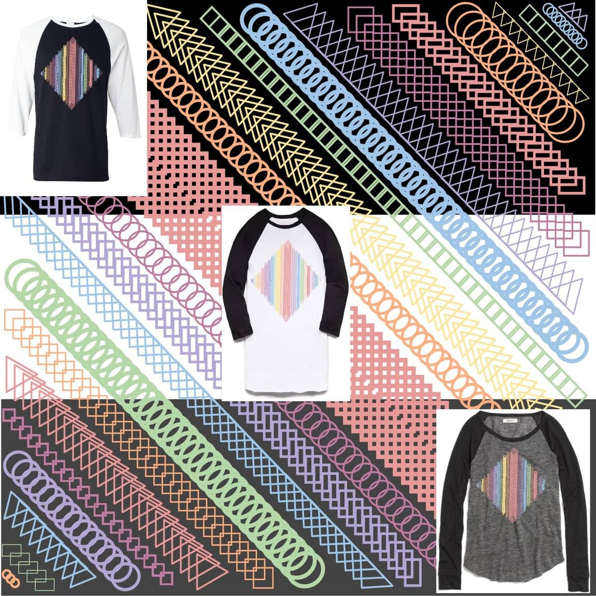 Rainbow Shapes by OzoneZoe on Threadless