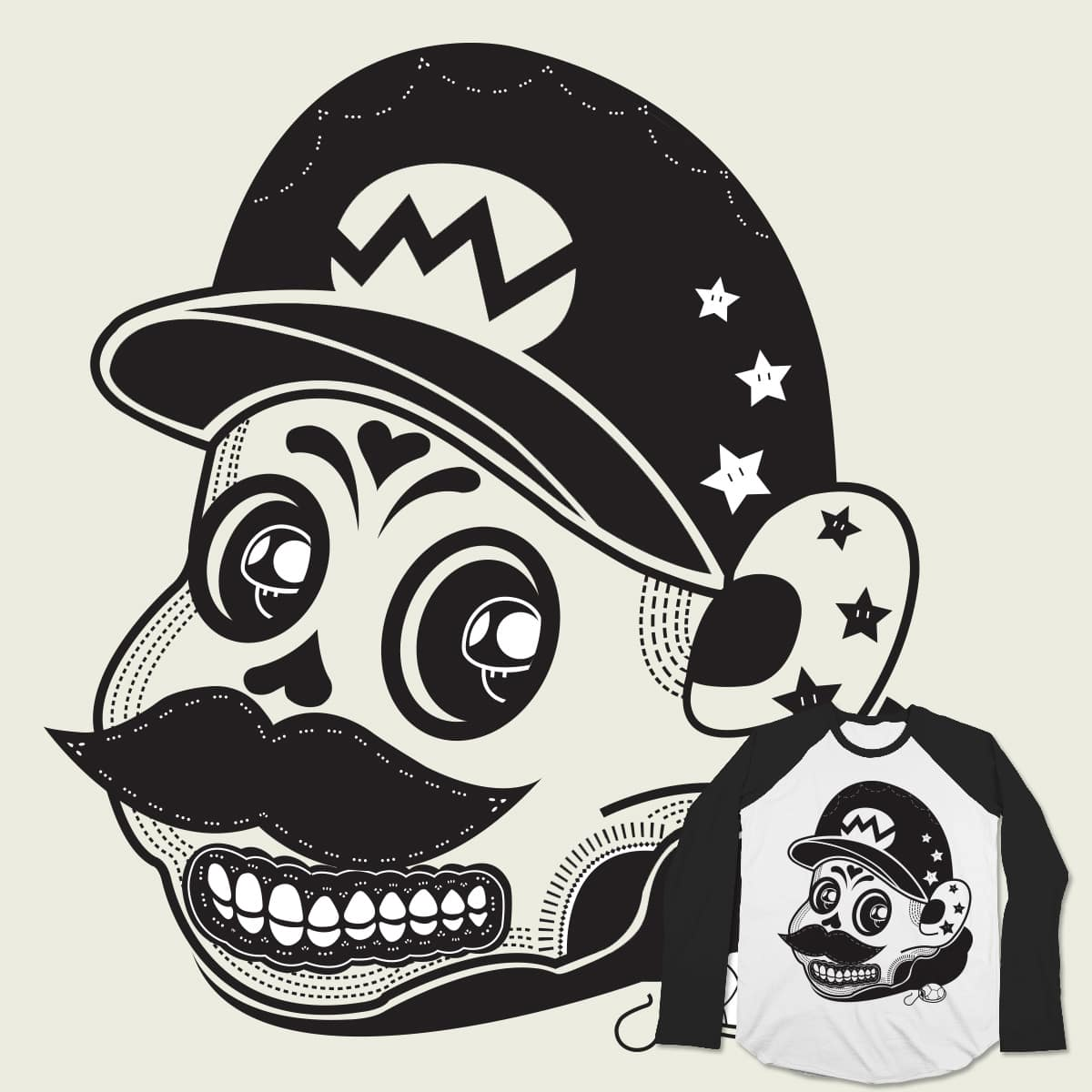 Mario sugar skull by Nix19 on Threadless