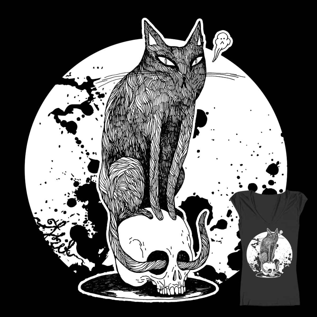 Purrgatory Moonshine by thithit on Threadless