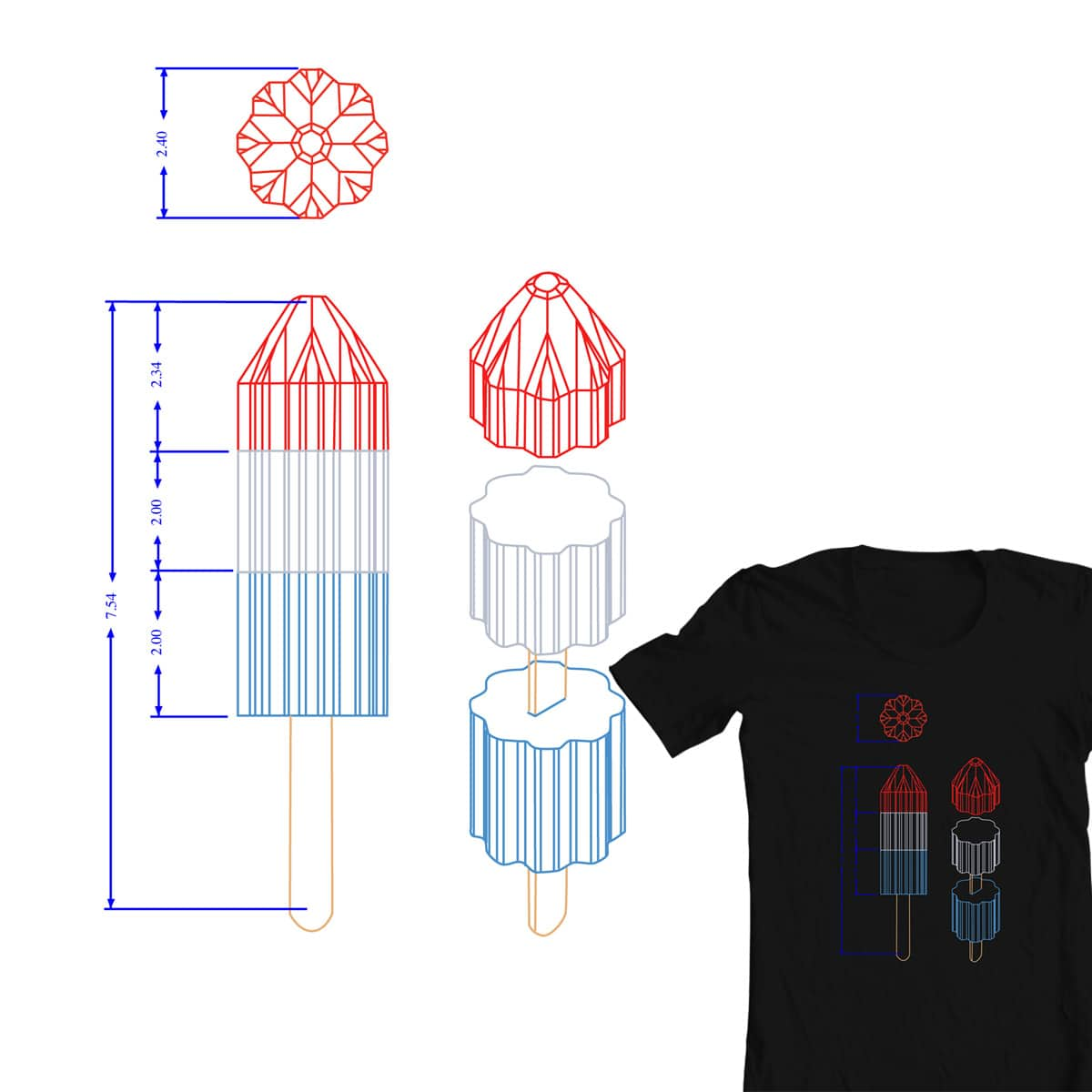 Let's Build a Rocket...Popsicle. by mcmle7 on Threadless