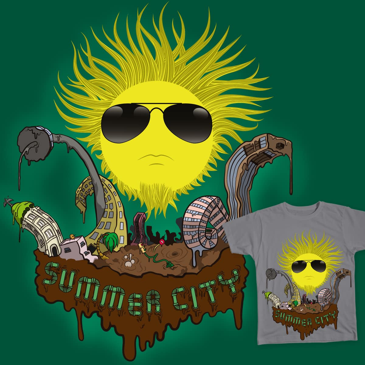 Summer city by Juliusllopis on Threadless