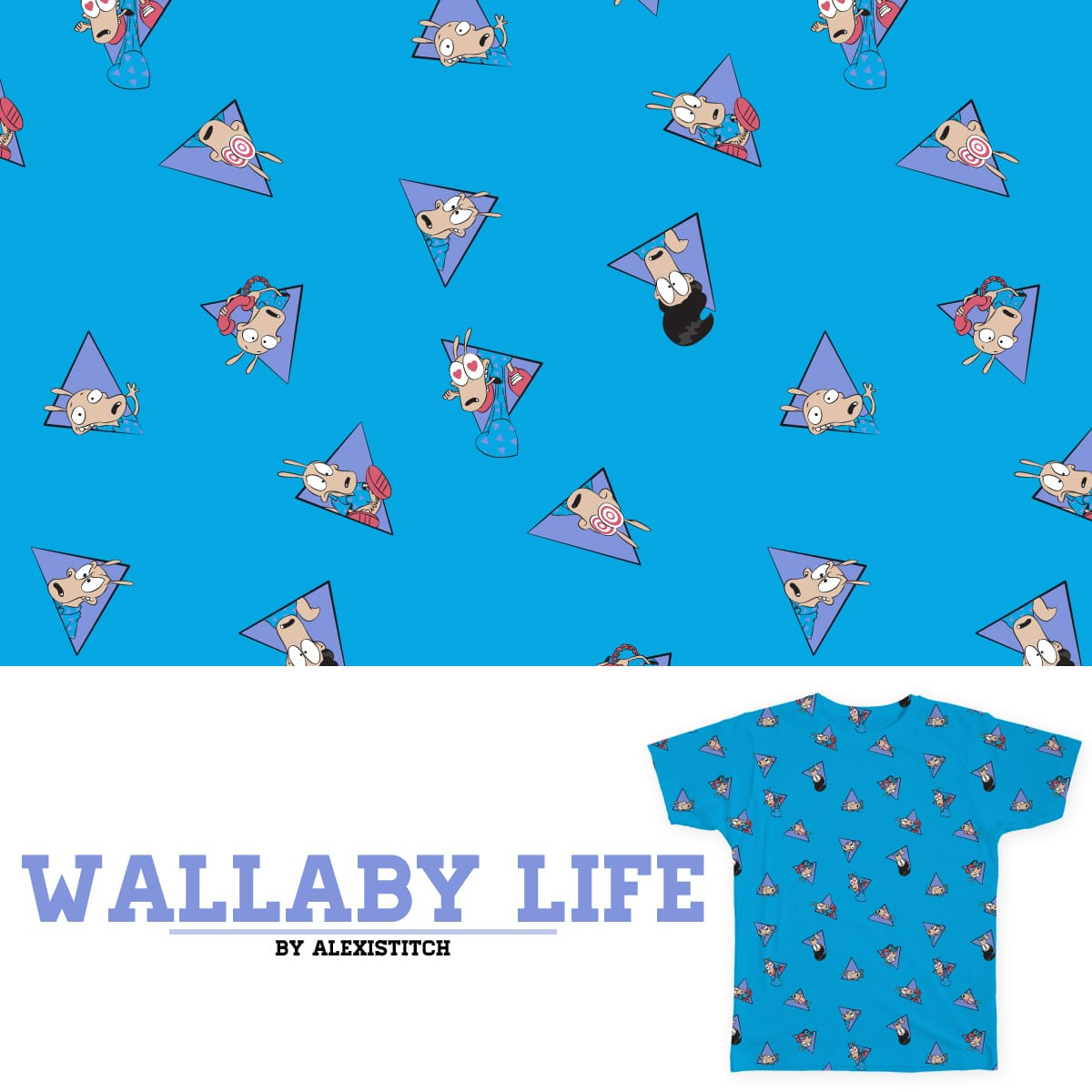 Wallaby Life by alexistitch on Threadless