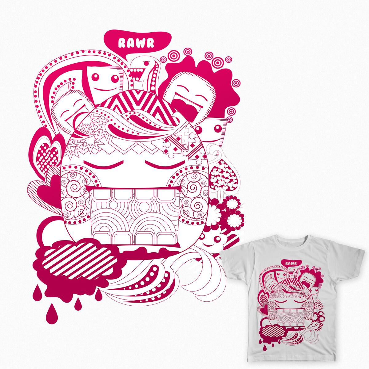 Hungry Shapes by aniveeej on Threadless