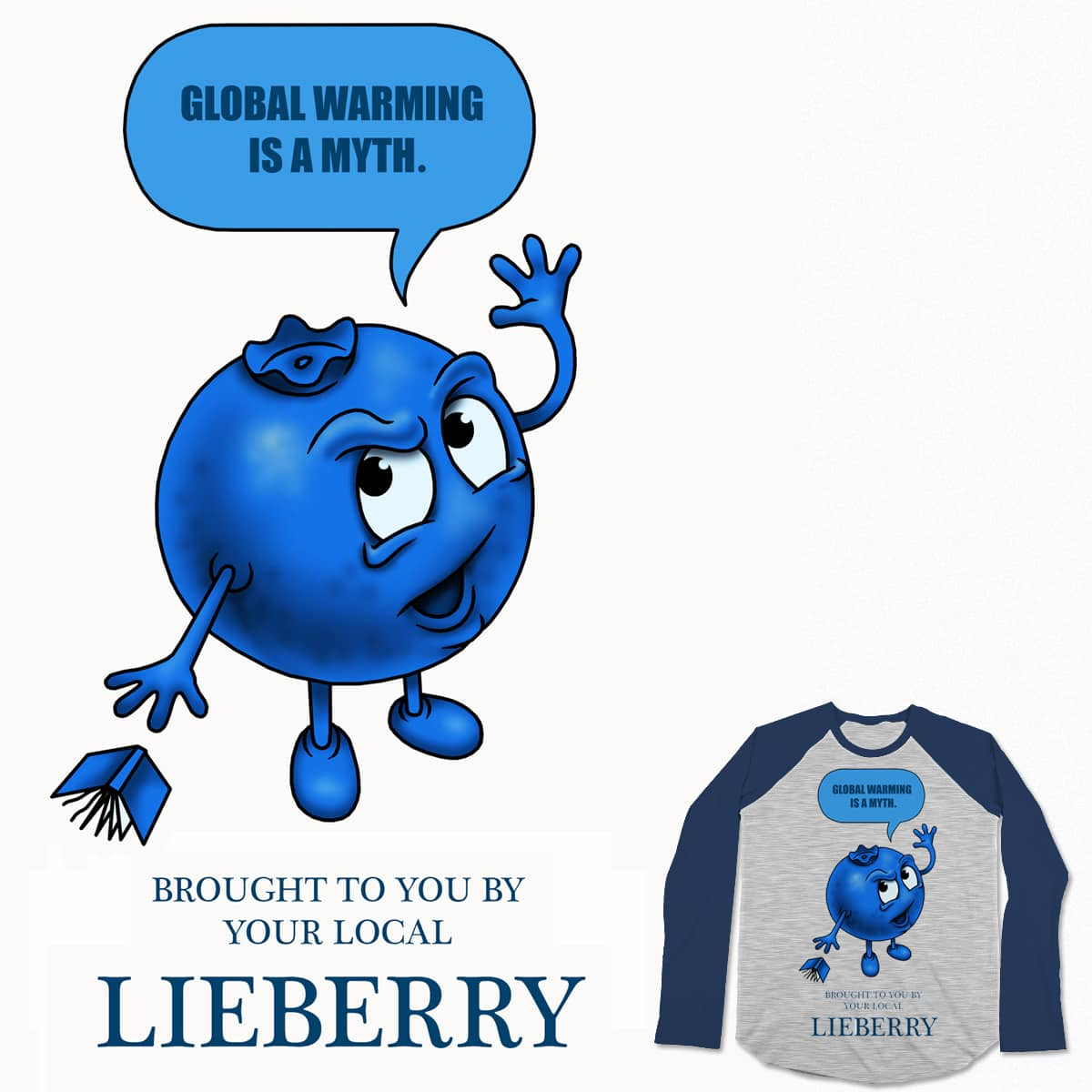 BLUEBERRY LIEBERRY by tyrannosaurlightningbolt on Threadless