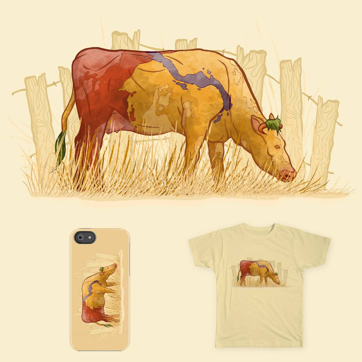 A Grazing Heffer by RoseMakesArt on Threadless