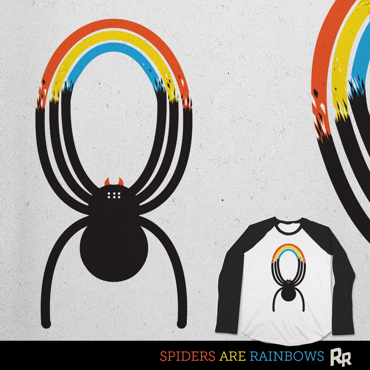 Spiders Are Rainbows by Ryder on Threadless