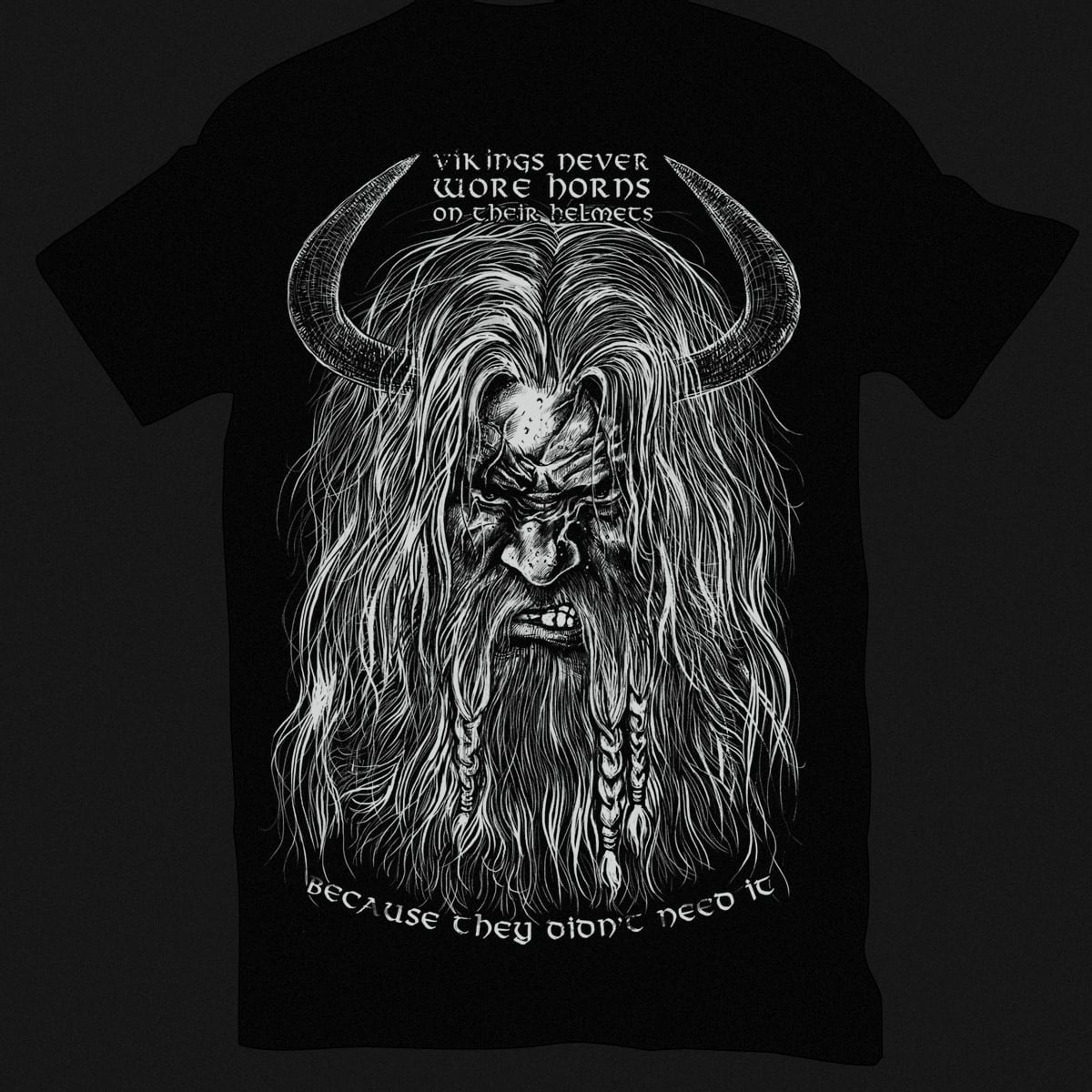 Vikings never wore horns!!!!! by RicoMambo on Threadless
