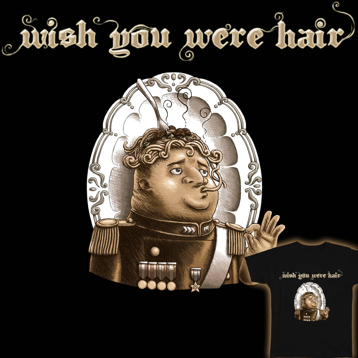 Wish You were Hair by pixiemichii on Threadless