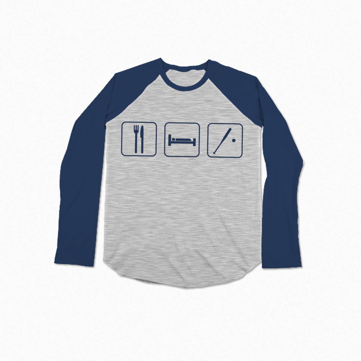 Eat Sleep Baseball by AdamNiemet on Threadless