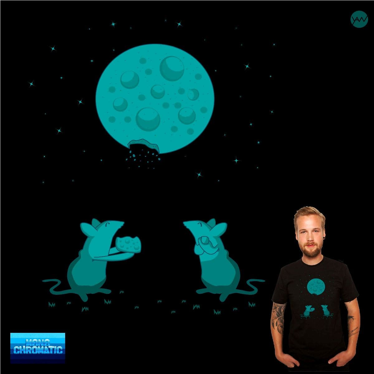 Cheese Moon by wimadeputra on Threadless