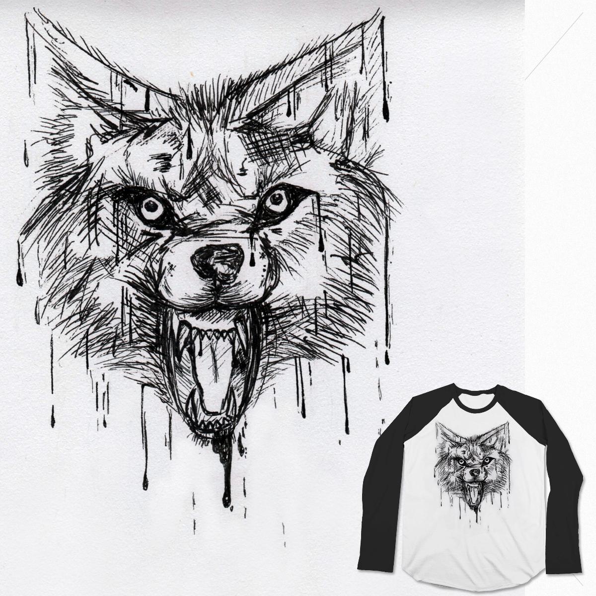 Melting Wolf by SaskiaMalwina on Threadless