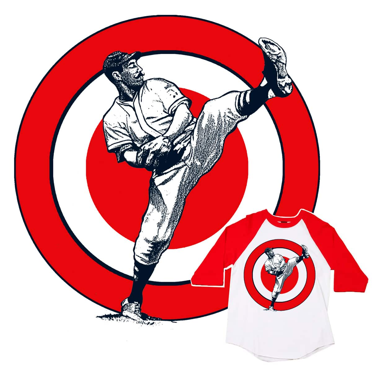 OLD SCHOOL PITCHING HEAT by JACKCRACK on Threadless
