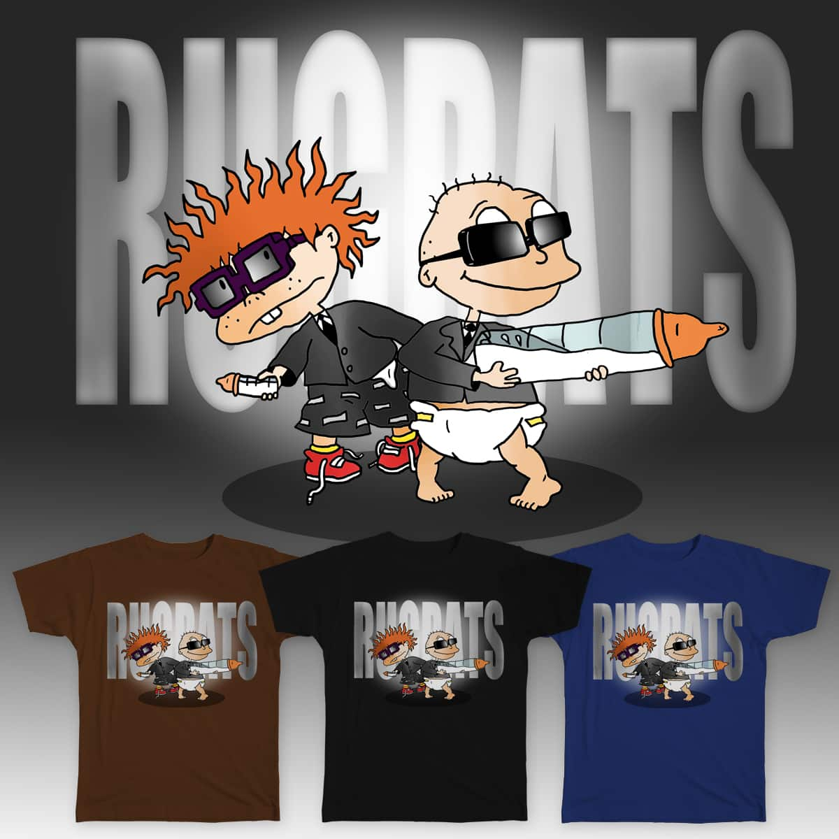 Rugrats In Black. by Nathan GW on Threadless