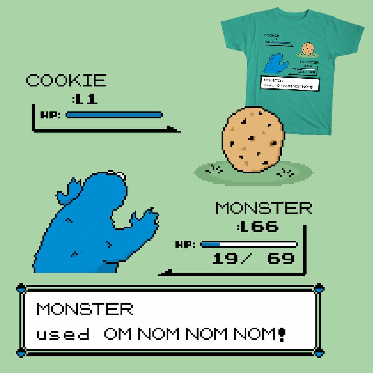 Cookiemon by lee_byway on Threadless