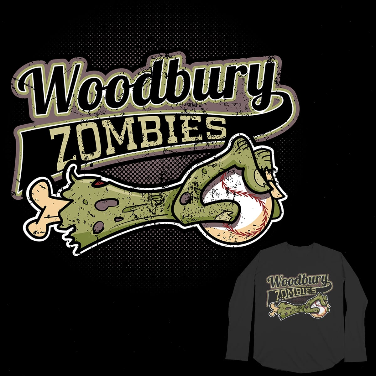 Woodbury Zombies Baseball Club by Timmy Toons on Threadless