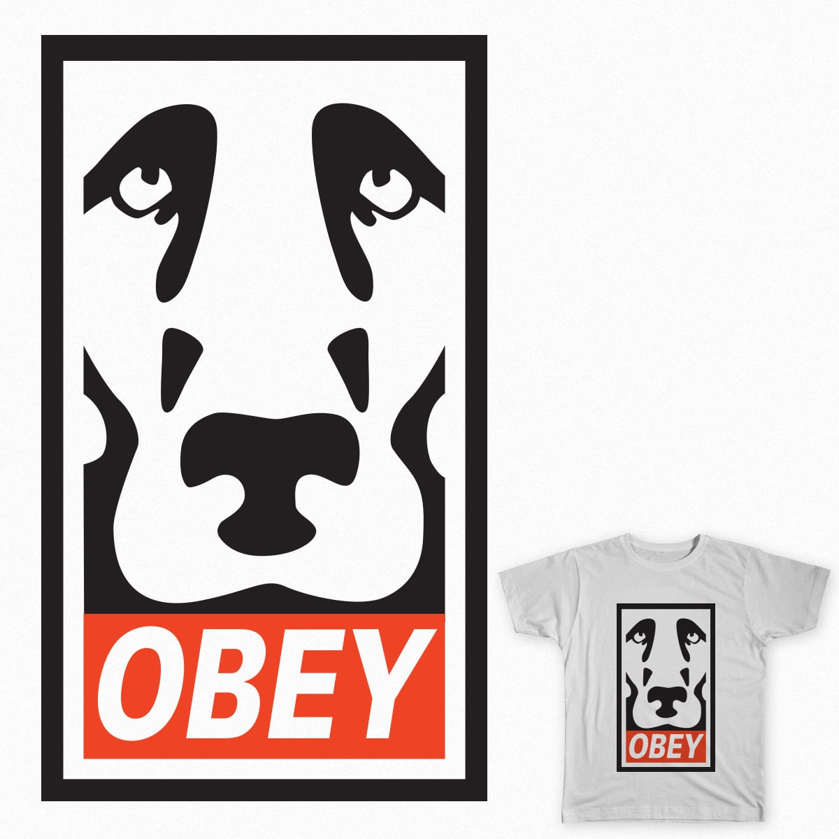 Obey . . . Good Dog by VanHansel on Threadless