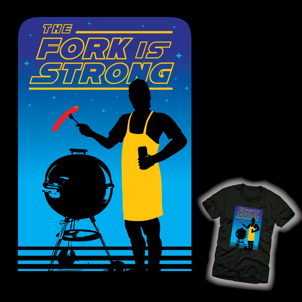 The Fork is Strong by HomesliceTEES on Threadless
