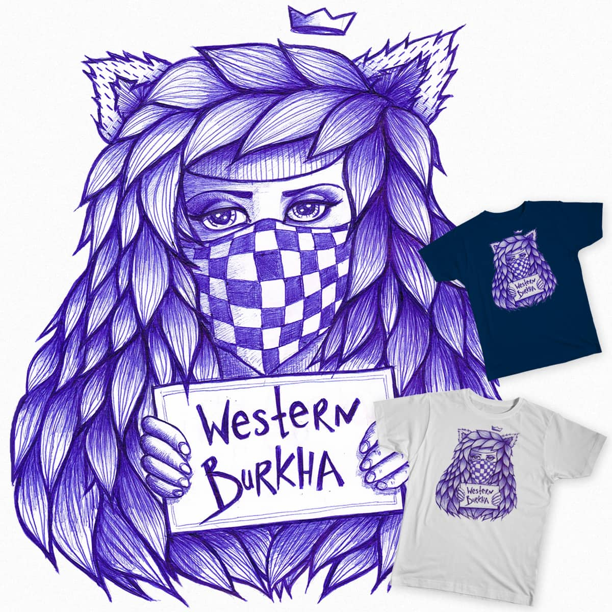 Western Burkha by Eve Design on Threadless