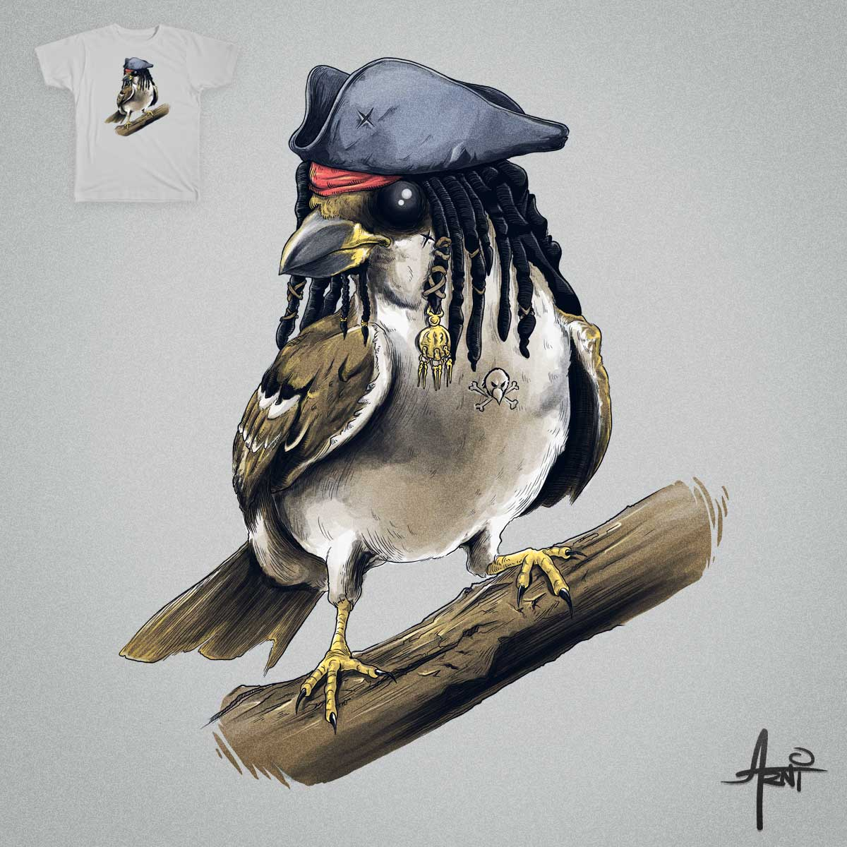 Sparrow by albertoarni on Threadless
