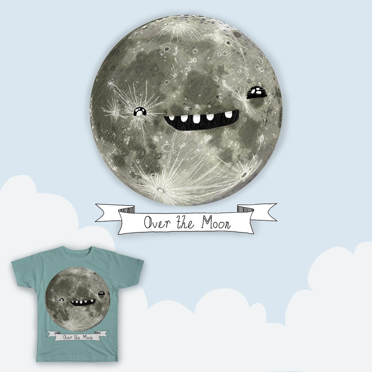 Feeling Over the Moon by cococrisis on Threadless