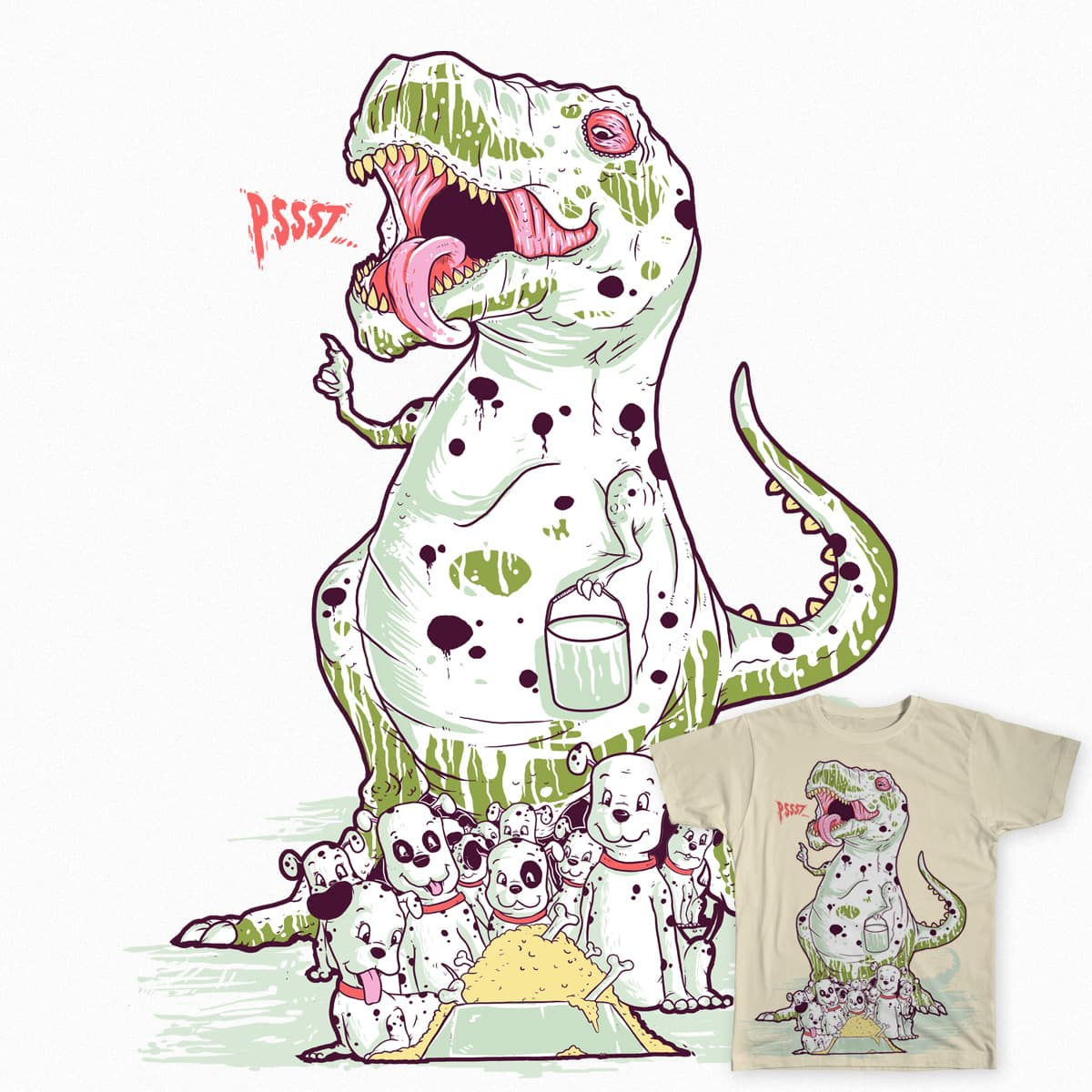 Dinomatian 101 by aparoundtheworld on Threadless