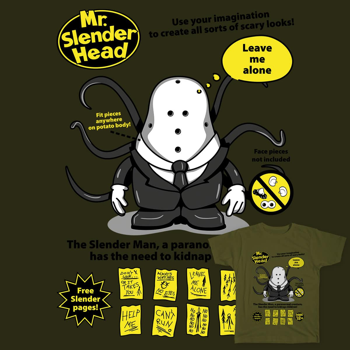 Mr. Slender Head by Olipopart on Threadless