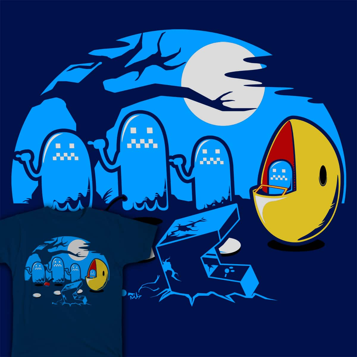 Beware! of Hitchhiking Ghosts! by showershark on Threadless
