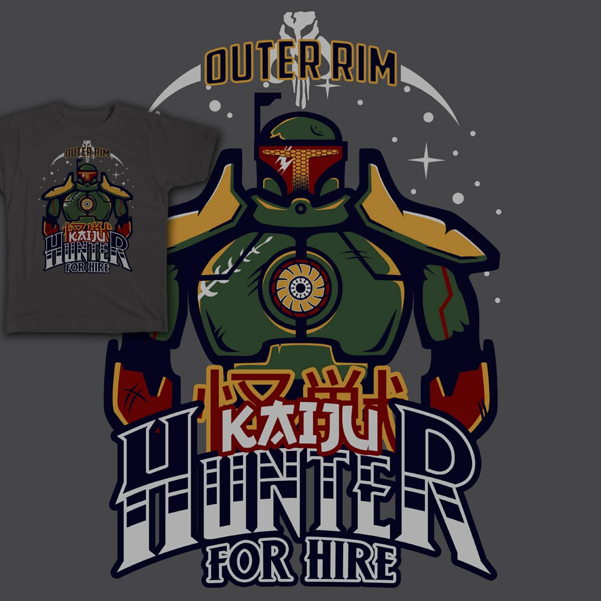 Hunter for Hire by showershark on Threadless