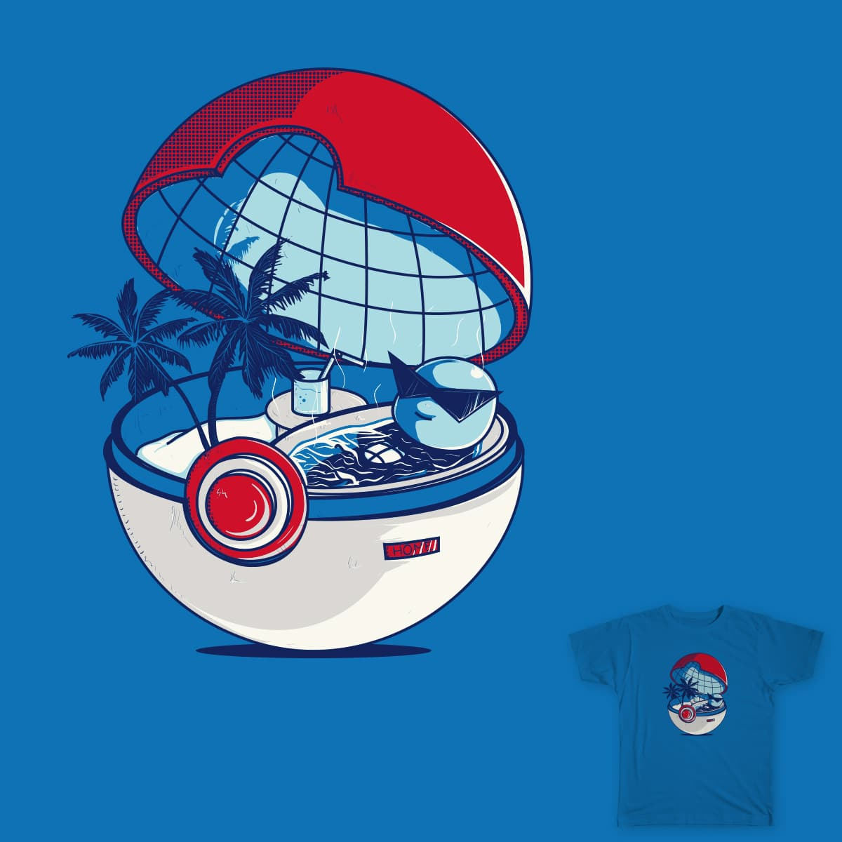 Blue Pokehouse by DonnieArt on Threadless