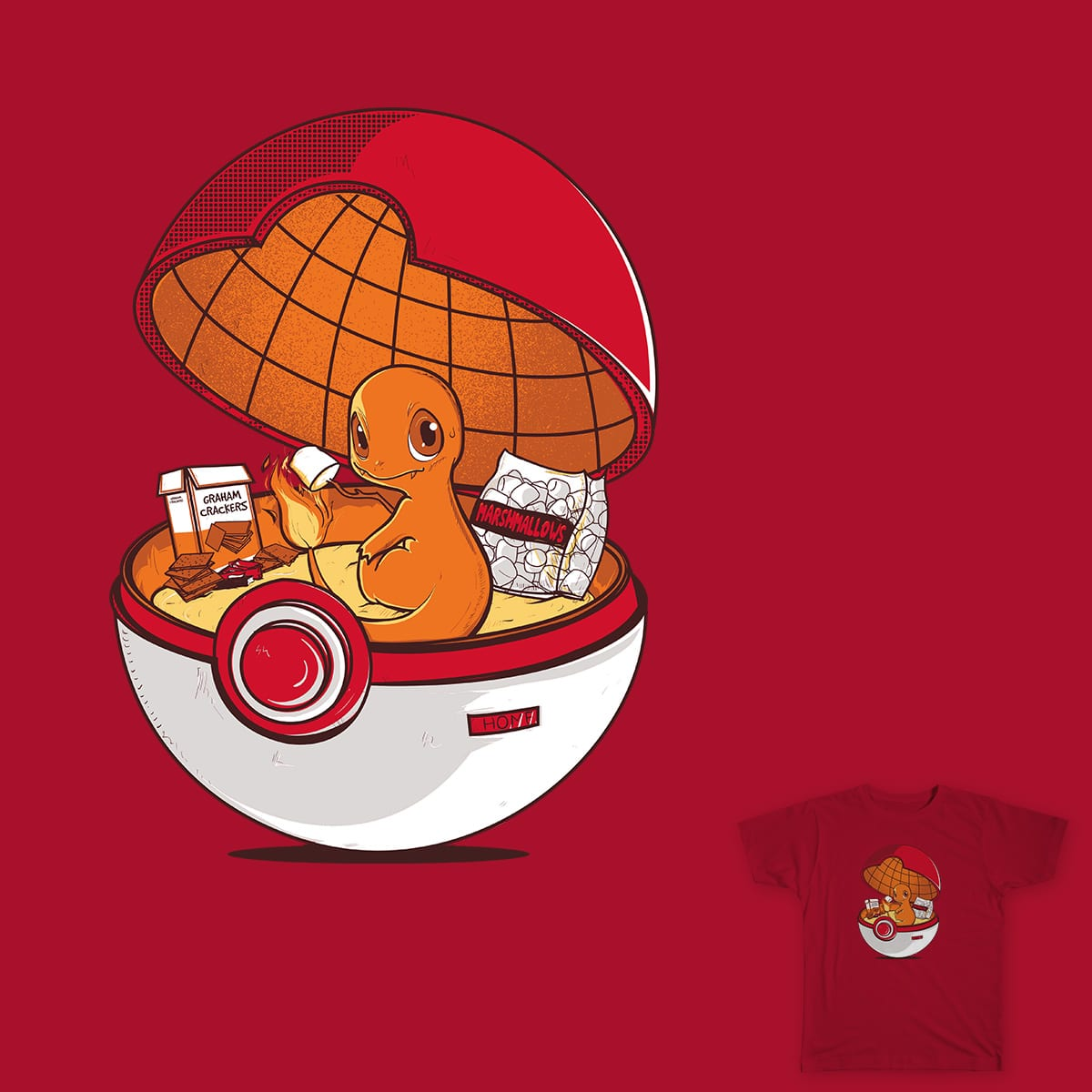 Red Pokehouse by Donniiie on Threadless