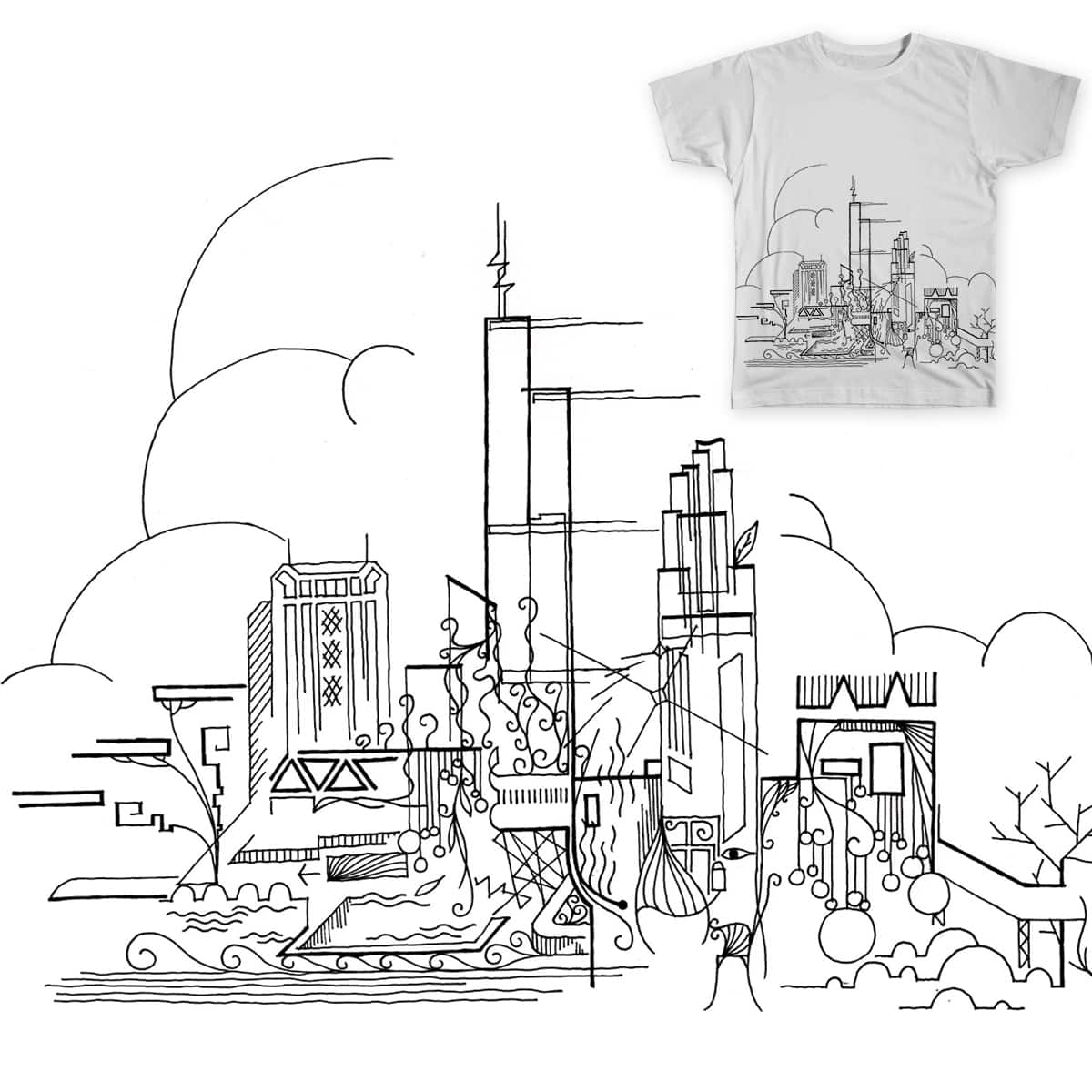 Chicago Impression by dfeng5 on Threadless