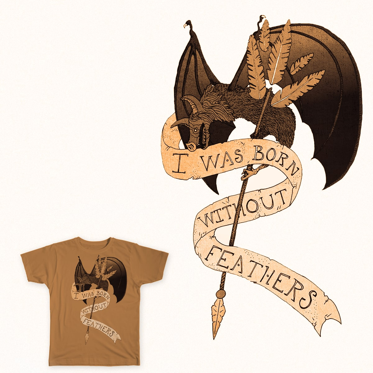 Bat Feathers by EnthusedGinger on Threadless